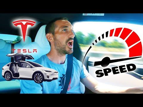 ACCÉLÉRATIONS avec la TESLA MODEL X ! (0 à 100km/h le plus rapidement possible)