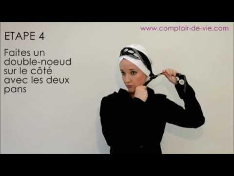 Comment accessoiriser un bonnet avec un foulard carr - Comment ranger les foulards ...