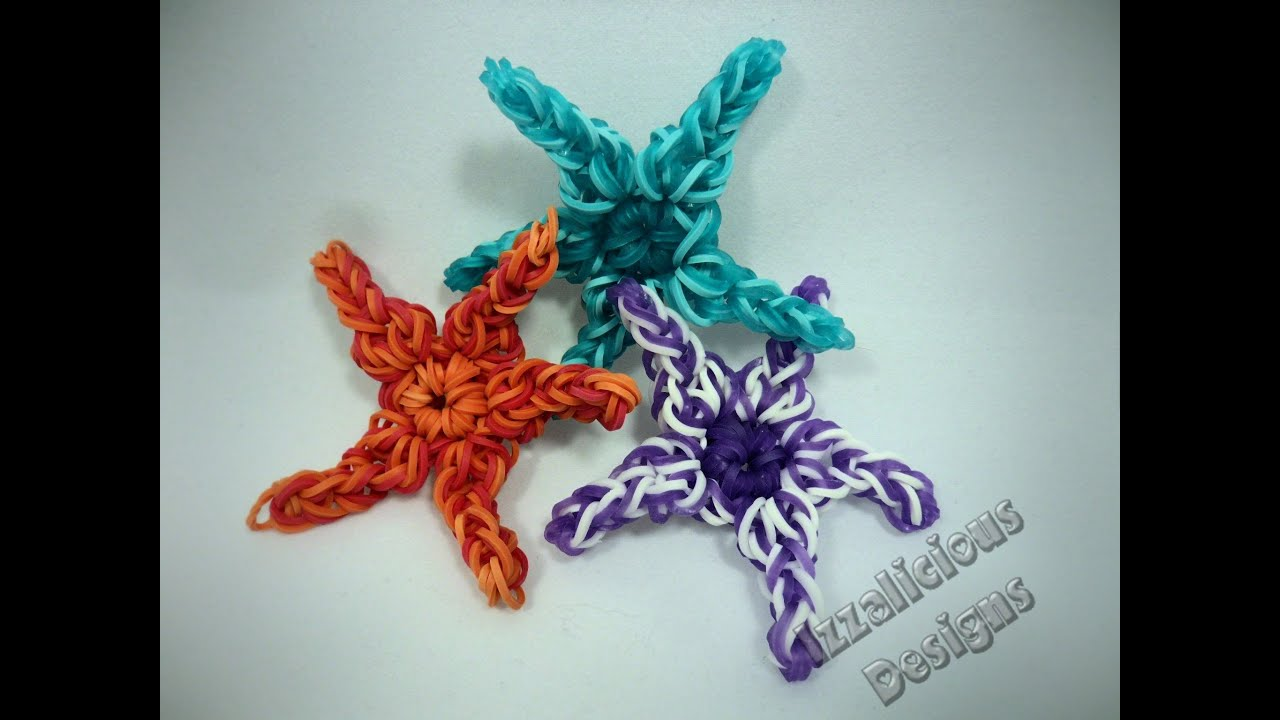 Rainbow Loom Starfish Animal Figure Charm Tutorial Youtube
