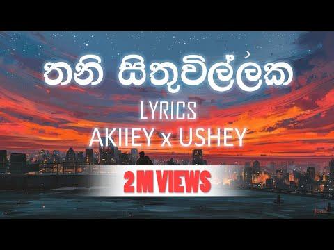 Thani sithuwillaka -   AKIIEY x USHEY Sinhala Rap LYRICS