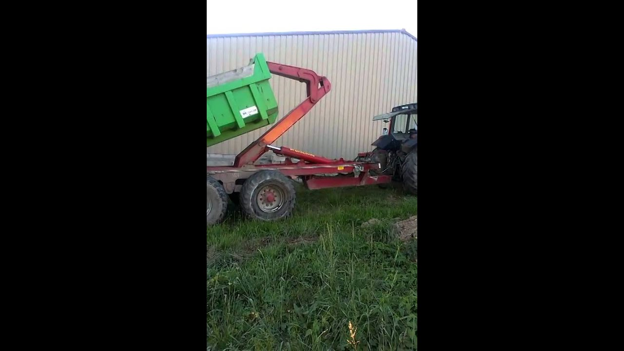 Porte caisson deguillaume youtube - Remorque porte outil agricole ...