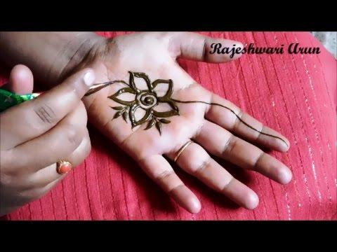 simple easy henna mehndi designs for hands mehndi designs by rajeshwari arun youtube. Black Bedroom Furniture Sets. Home Design Ideas