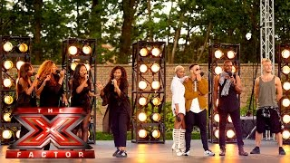 Group 7 perform All About That Bass | Boot Camp | The X Factor UK 2015