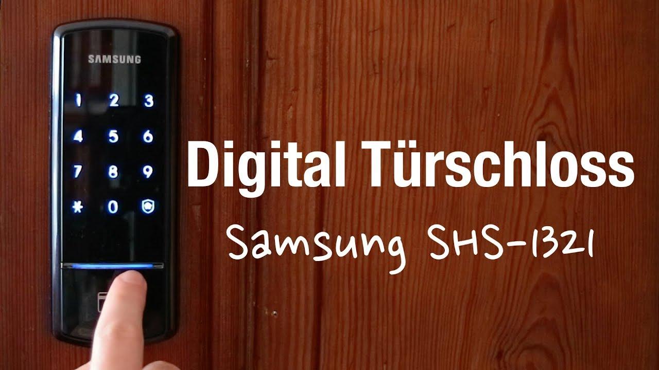 samsung shs-1321 elektronisches türschloss (unboxing, einbau und