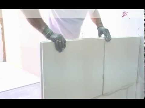 comment coller des carreaux de pl tre avec gecko youtube. Black Bedroom Furniture Sets. Home Design Ideas