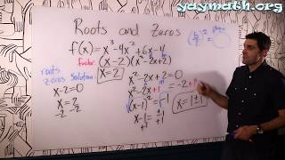 Algebra 2 – Roots and Zeros (part 1)