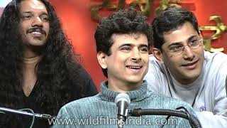 Euphoria Band in their younger days: Palash Sen is the song-writer, DJ, Christopher handles sound