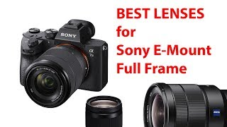 Top 4 Best Lenses for Sony E-Mount Full Frame like your A7III and A7RIII!