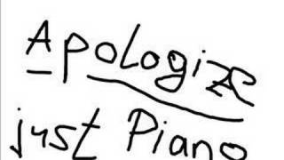 Apologize -  Piano Version by Marius Furche