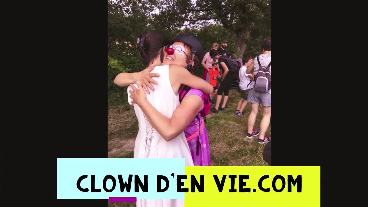Clown d'En Vie à la Balade bucolique et artistique de l'ADAM (juin 2018).