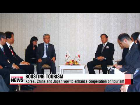 Korea, China and Japan vow to enhance trilateral cooperation on tourism   한중일, 2