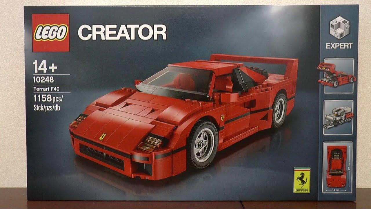 lego creator expert 10248 ferrari f40 youtube. Black Bedroom Furniture Sets. Home Design Ideas
