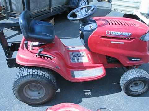 hqdefault problems with troy bilt pony riding lawn mower youtube  at mifinder.co