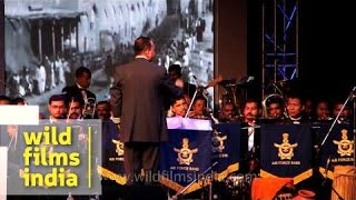 Indian Air Force Band performs during WW 1 Centenary Commemoration, Delhi
