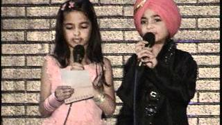 Previous Posting - Seattle Twins Anhad & Inaayat Sidhu singing - Yaar Anmulle - Sherry Mann song