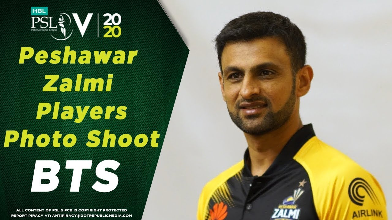 Peshawar Zalmi players' photo-shoot | BTS