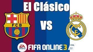 Fifa online 3 - multiplayer 1v1 ranking: fc barcelona vs real madrid (gameplay #2)