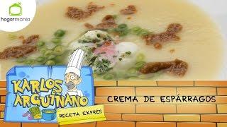 Receta de Crema de espárragos por Karlos Arguiñano