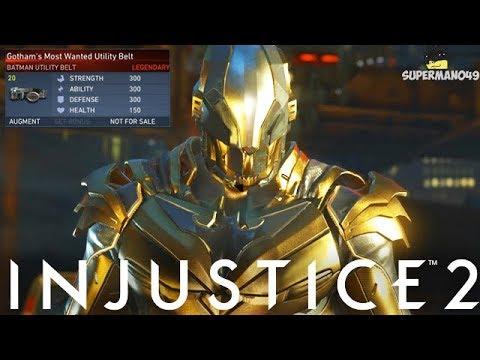 """Legendary Gold Billionaire Batman Is TOO STRONG! - Injustice 2 """"Batman"""" Legendary Gear Gameplay"""