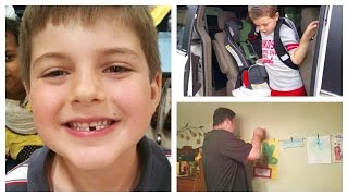 FIRST Missing Tooth, Kids Artwork Display & Andy's Birthday!
