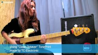 "Ida Nielsen (3RDEYEGIRL & NPG) plays BG250-112 combo using ""Clean Octaver"" TonePrint"
