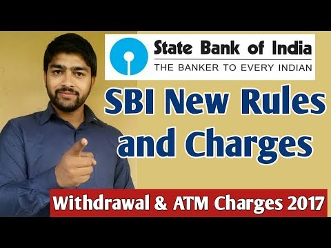 SBI New Rules and Charges From 1st April,2017 Charges का लगा पहाड़ ।