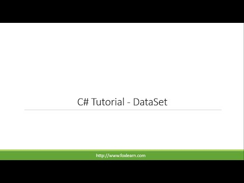 C# Tutorial - DataSet