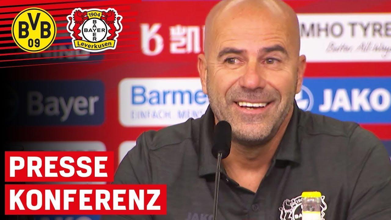 Mit Vorfreude ins Topspiel | PK mit Peter Bosz | Borussia Dortmund - Bayer Leverkusen | Bundesliga