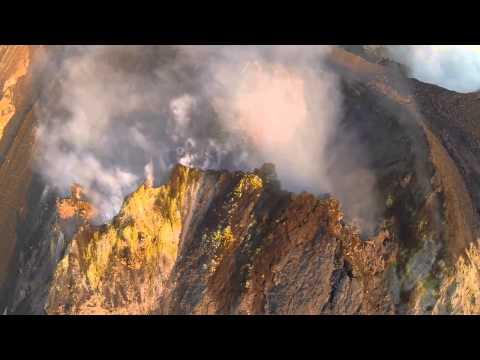 Stromboli Volcano drone footage