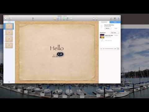 Apple Mac Mavericks Key Note how to Play music audio through all slides KeyNote
