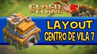 MELHOR LAYOUT DE TH7/CV7 HIBRIDO/FARM [2016] - Clash of Clans