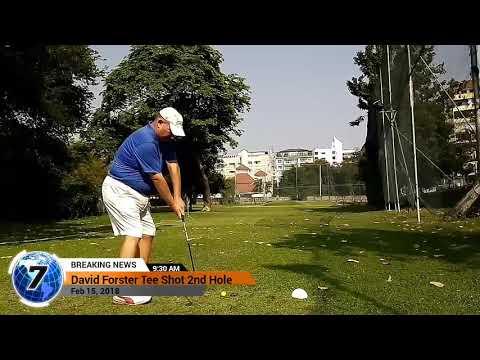 2nd Hole Tee Shot Asia Pattaya Golf Course Thailand