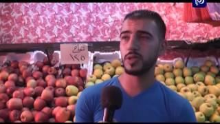 الحركة التجارية في سوق الخضار - محافظة إربد