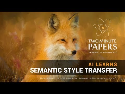 AI Learns Semantic Style Transfer | Two Minute Papers #177