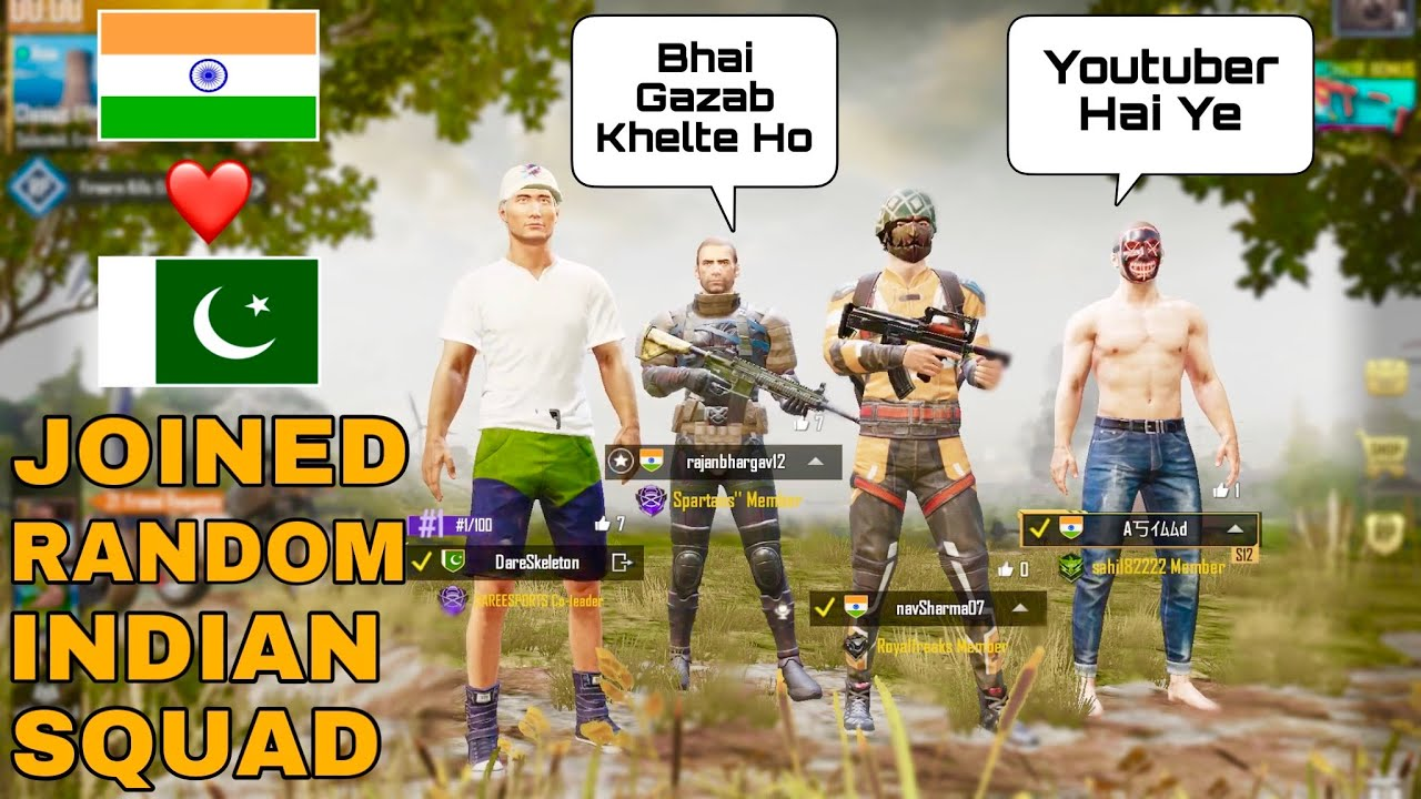 Joined Random INDIAN Squad Like A Bot😂 Gone Solo Vs Squad🔥 | PUBG Mobile | Skeleton Gaming
