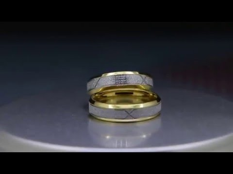 Custom Engraved Couples Promise Titanium Rings Set for 2