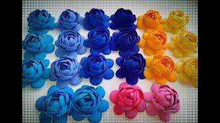 DIY КУПАВКА из ФОАМИРАНА/маленькие цветочки из фоамирана/сделай сам