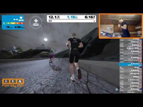 Zwift Running - First Run up the Volcano KOM
