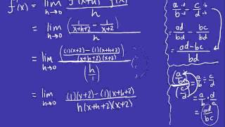 Calculus - Finding the Derivative by the Definition 2