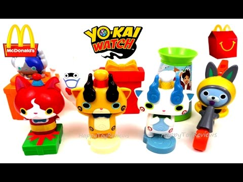 2017 McDONALD'S YO-KAI WATCH HAPPY MEAL TOYS FULL SET 8 ...