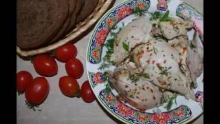 Сочная курица в мультиварке простой рецепт с адыгейской солью. Кулинарный канал ТутВкусно.