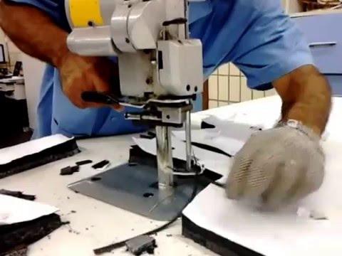 048a531e7 CORTE TECIDO EM MÁQUINA DE FACA RETA 6 POLEGADAS. - YouTube