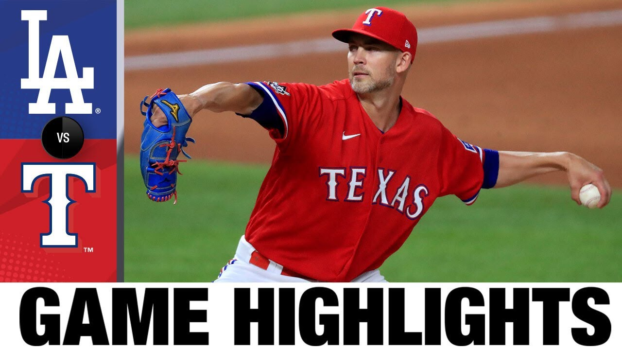 Mike Minor pitches gem in win over Dodgers | Dodgers-Rangers Game Highlights 8/28/20