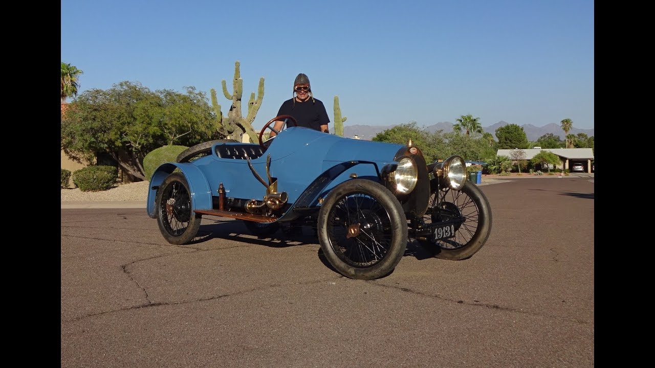 1913 bugatti type 22 grand prix style blue race car engine sound my car story with lou. Black Bedroom Furniture Sets. Home Design Ideas