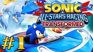 Sonic & All Stars Racing Transformed Gameplay #1 [PT-BR]