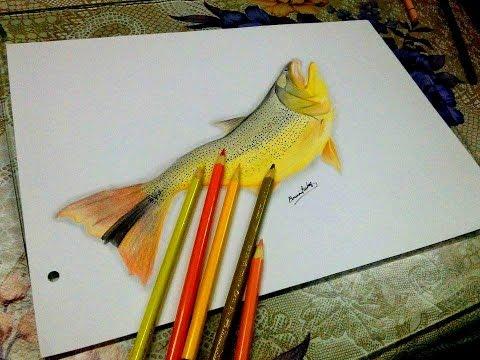 Dibujando a un pez Dorado  how to draw  speed drawing  YouTube