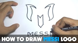 How to Draw a Cartoon - Messi Logo (Tutorial Step by Step)