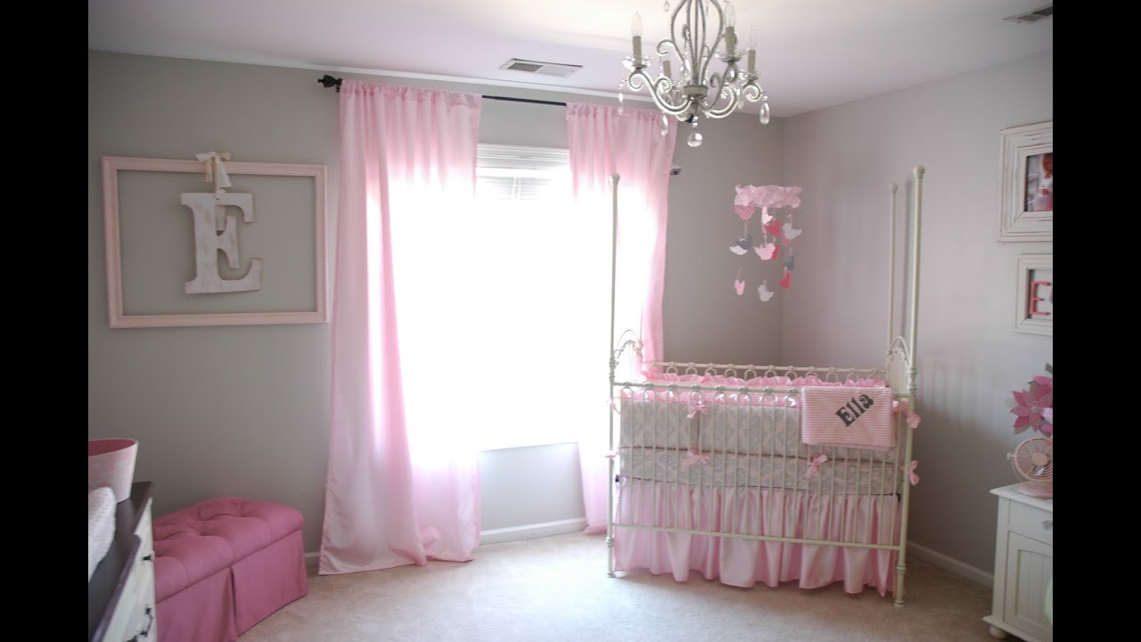 Superb unisex baby room youtube for Baby pink bedroom ideas