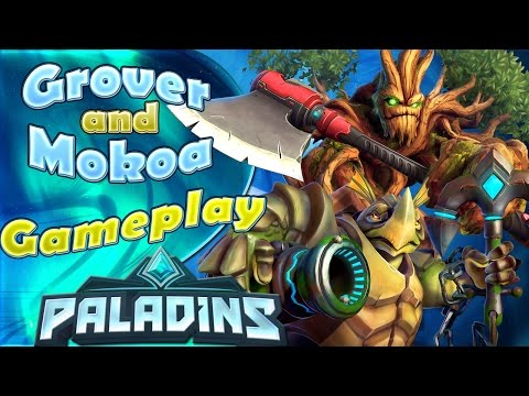 Grover and Makoa Gameplay - Payload - Paladins