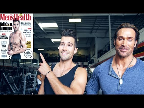 James Maslow trains with the Titan Mike O'Hearn